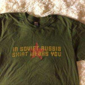 Soviet Russia Funny T-shirt Sz: S
